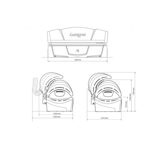"""Горизонтальный солярий """"Luxura X3 32 SLI"""""""